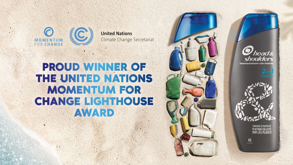 World's first recyclable shampoo bottle made from beach plastic wins United Nations award