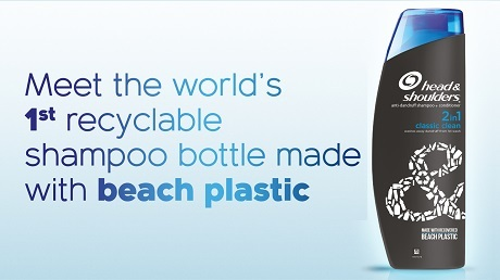 new head and shoulders bottle to be made with recycled beach plastic