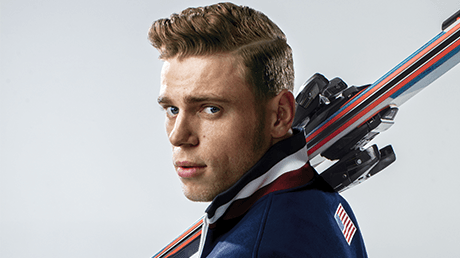 GUS KENWORTHY'S SHOULDERS ARE MADE FOR GREATNESS, NOT DANDRUFF